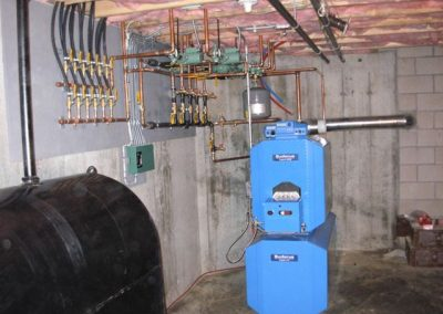 Buderus with Hot Water tank under